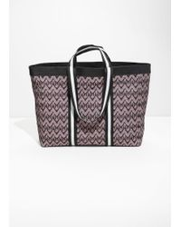 & Other Stories - Jacquard Tote Bag - Lyst