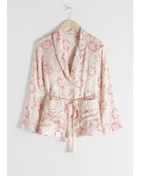 & Other Stories - Belted Silk Lounge Shirt - Lyst
