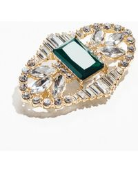 & Other Stories - Crystal Brooch With Large Gem - Lyst