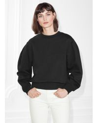 & Other Stories - Puff Sleeve Cotton Sweatshirt - Lyst