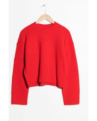 & Other Stories - Cropped Jumper - Lyst