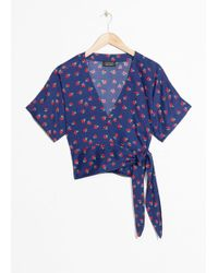 & Other Stories - Cherry Print Wrap Blouse - Lyst