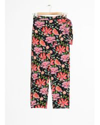 & Other Stories - Peony Print Trousers - Lyst