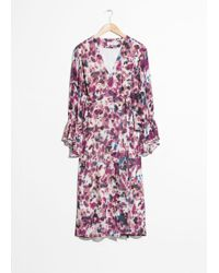 & Other Stories - Belted Wrap Midi Dress - Lyst