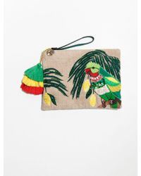 & Other Stories - Embroidered Paradise Clutch - Lyst