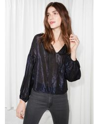 & Other Stories - Balloon Sleeve Blouse - Lyst
