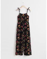 & Other Stories - Floral Velvet Jumpsuit - Lyst
