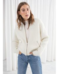 & Other Stories - Wool Blend Knit Bomber - Lyst