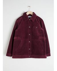 & Other Stories - Oversized Corduroy Workwear Jacket - Lyst