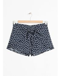 & Other Stories - Hibiscus Print Shorts - Lyst