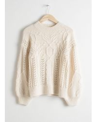 & Other Stories - Floral Cable Knit Jumper - Lyst