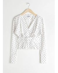 & Other Stories - Belted Blouse - Lyst