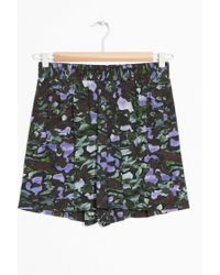 & Other Stories - Print High Waisted Shorts - Lyst