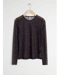 & Other Stories - Mesh Long Sleeve Top - Lyst