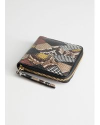 & Other Stories - Leather Zip Wallet - Lyst