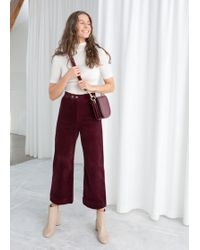 & Other Stories - Duo Snap Button Corduroy Culottes - Lyst