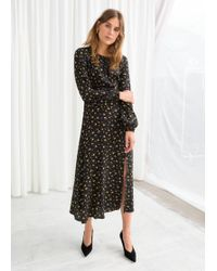 & Other Stories - Printed Long Sleeve Midi Dress - Lyst