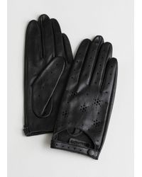 & Other Stories - Star Perforated Leather Gloves - Lyst