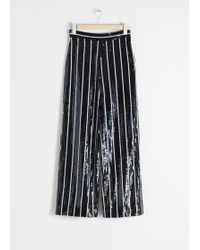 & Other Stories - Striped Sequin Lounge Trousers - Lyst