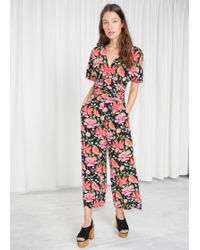 & Other Stories - Peony Print Jumpsuit - Lyst