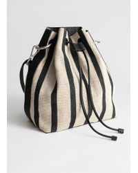 & Other Stories - Striped Bucket Bag - Lyst