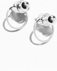 & Other Stories - Circular Drop-back Earrings - Lyst