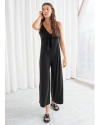 & Other Stories - Tie Up Flared Jumpsuit - Lyst