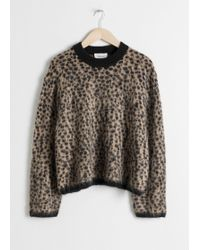 & Other Stories - Leopard Knit Jumper - Lyst
