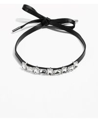 & Other Stories | Leather Choker With Jewels | Lyst