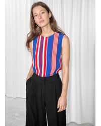 & Other Stories - Sleeveless Crepe Top - Lyst