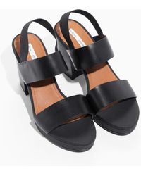 & Other Stories - Heeled Leather Sandals - Lyst