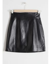 & Other Stories - High Waisted Leather Skirt - Lyst