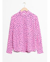 & Other Stories - Collared Silk Shirt - Lyst
