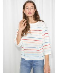 & Other Stories - Striped Oversized Top - Lyst
