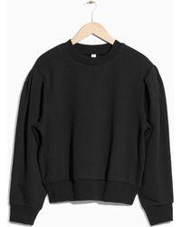& Other Stories - Puff Sleeve Cotton Sweatshirt - Lyst