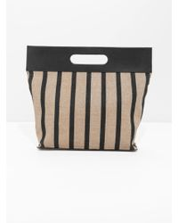 & Other Stories - Striped Large Handle Tote - Lyst