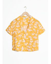 & Other Stories - Tropical Print Shirt - Lyst
