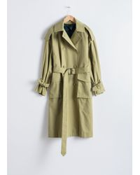 & Other Stories - Oversized Belted Trenchcoat - Lyst