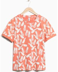 & Other Stories - Tropical Print T-shirt - Lyst