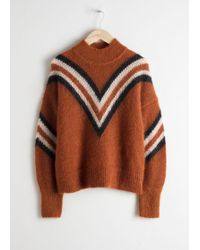 & Other Stories - Mock Neck Varsity Stripe Sweater - Lyst