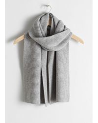 & Other Stories - Ribbed Cashmere Scarf - Lyst