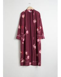 & Other Stories - Belted Orchid Print Kaftan - Lyst