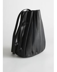 & Other Stories - Pleated Leather Bucket Bag - Lyst