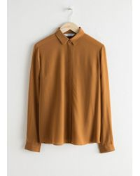 & Other Stories - Straight Fit Silk Shirt - Lyst