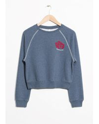 & Other Stories | Heartaches Embroidery Sweatshirt | Lyst