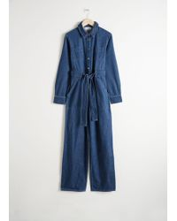 & Other Stories - Denim Overall Jumpsuit - Lyst
