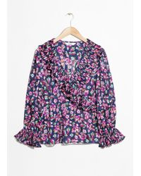 & Other Stories - Wrap Ruffle Blouse - Lyst