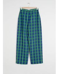 & Other Stories - Wool Blend Plaid Trousers - Lyst