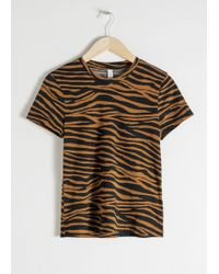 & Other Stories - Organic Cotton Zebra T-shirt - Lyst