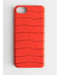 & Other Stories Croc Embossed Iphone Case